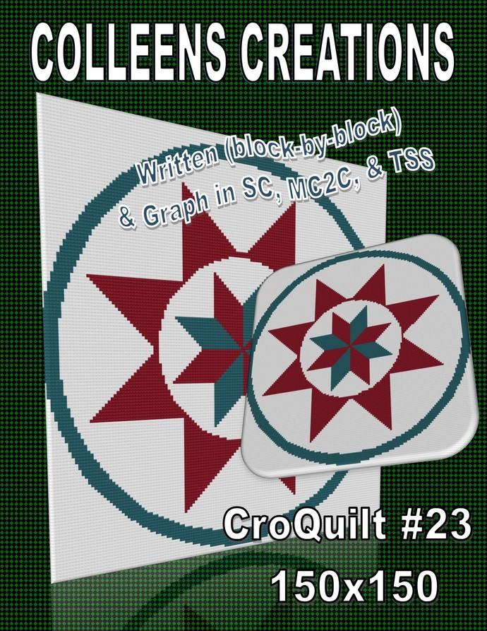 CroQuilt #23 Crochet Written & Graph Design