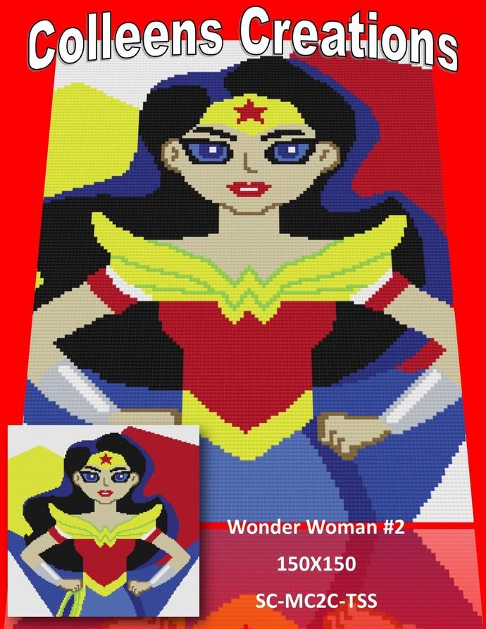 Wonder Woman #2 Crochet Written and Graph Design