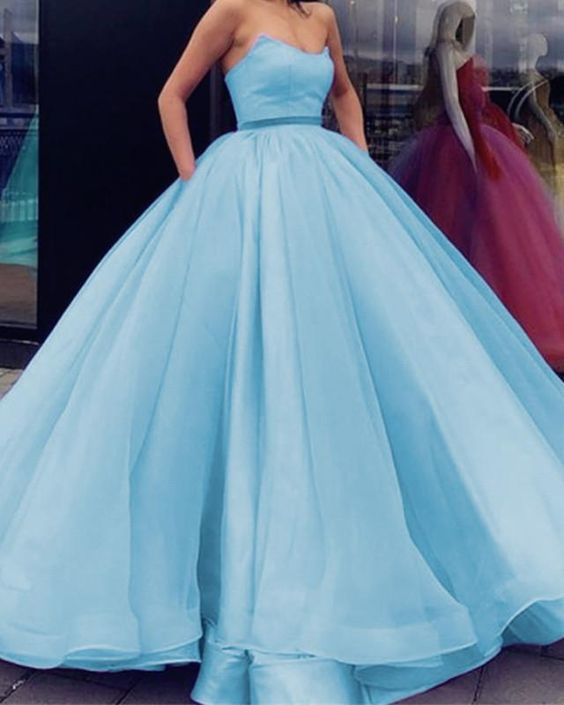 8cce8b3b626 Charming Light Blue Tulle Quinceanera by fancygirldress on Zibbet