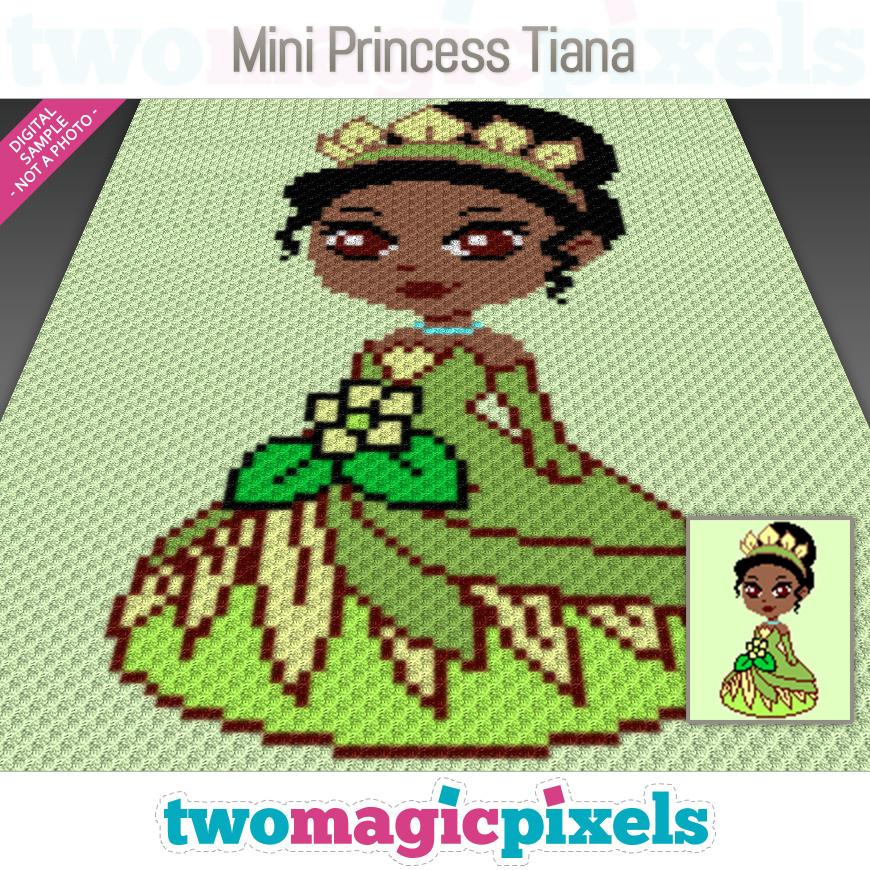 Mini C2c Pattern: Mini Princess Tiana Crochet Graph (C2C,
