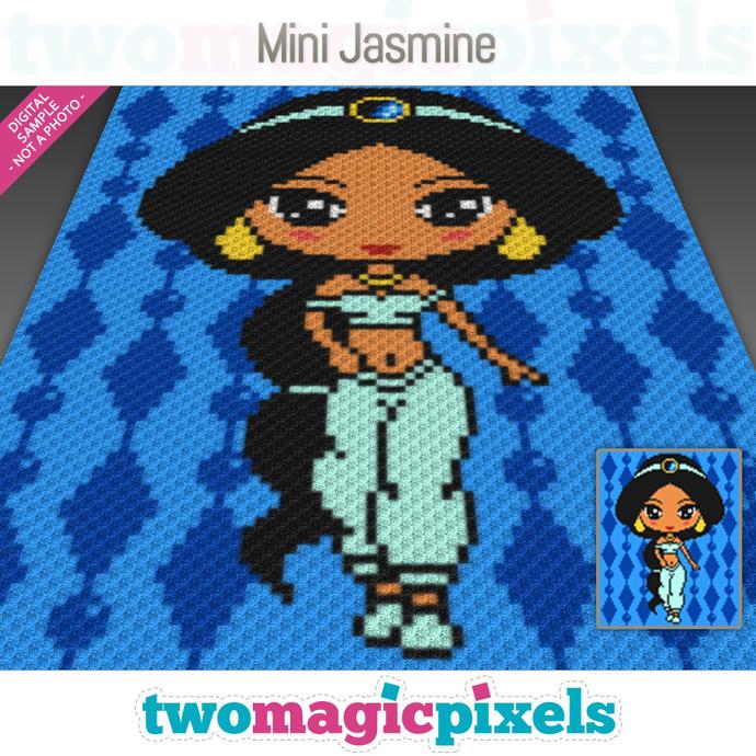 Mini C2c Pattern: Mini Jasmine Crochet Graph (C2C, Mini C2C,