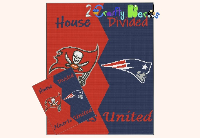 Patriot Buccaneer House Divided Pattern Graph With Single Crochet Written