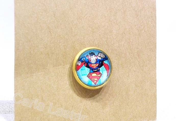 Comics tie tack, Comic lapel pin, Superman tie tack, super hero, justice league,