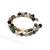 Jasper and India agate bracelet, memory wire bracelet, nature tones of brown,