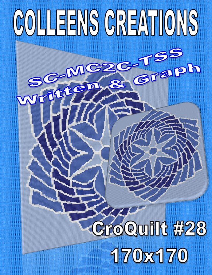 CroQuilt #28 Crochet Written Word and Graph Design