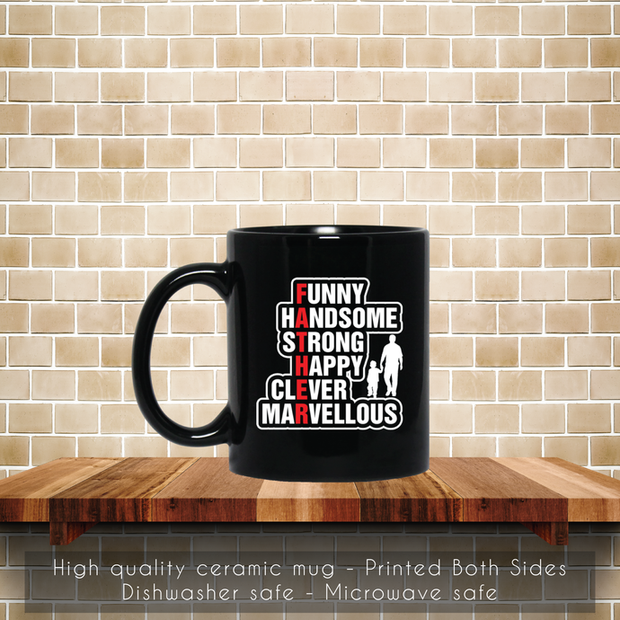 Strong Clever Marvellous Coffee Mug, Strong, Clever, Marvellous, Tea Mug, Strong
