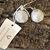 Silver Sphere Drop Earrings, Sparkly Ball Drop Droplet Dangle Earrings, Aluminum