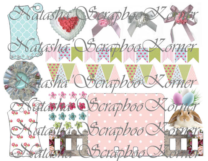 Shabby Chic Memory Dex Card with the Fence Printable Digital Template