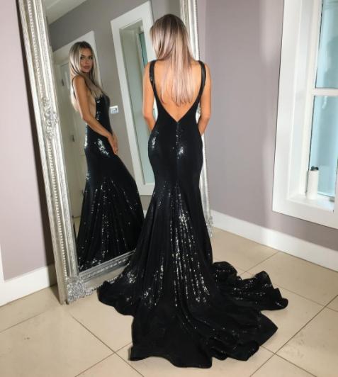 Mermaid Backless Prom Dress,Long Prom Dresses,Prom Dresses,Evening Dress,