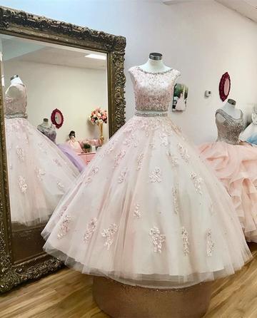 Charming Evening Dress, Ball Gown Dress, Appliques Prom Dresses, Formal Dress