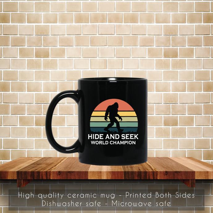 Hide and Seek, World Champion, Bigfoot Retro Soccer Coffee Mug, Tea Mug, Coffee