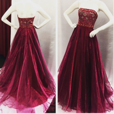 Glamorous A-Line Strapless Long Prom/Evening Dress With Embroidery