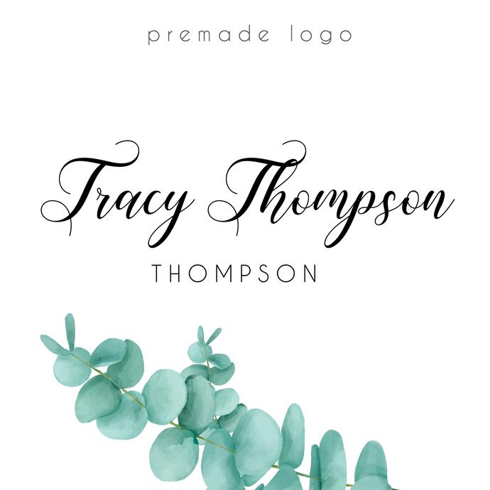 Premade logo, Personalized logo, Watercolor Logo, Leaf Logo Design, Business