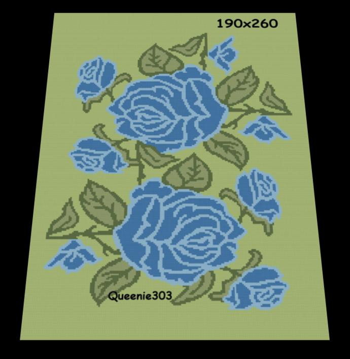 Blue Roses 190x260