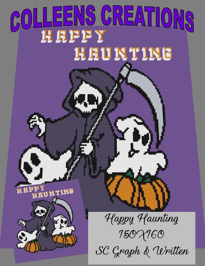 Happy Haunting Crochet Written and Graph Design