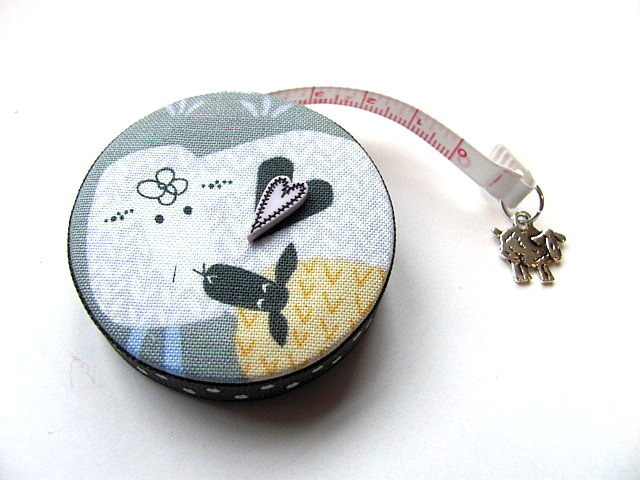 Measuring Tape Pattern Sheep Retractable Pocket Tape Measure