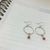 Silver Hoop Agate Earrings with Gold Accent | Medium
