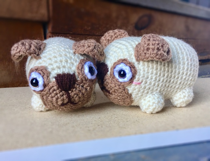 Pug Dog Crochet Pattern Lots Of Ideas Video Tutorial | 532x690