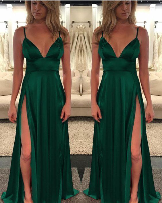 Dark Green Prom Dresses Emerald Porm Dresses Evening gowns Green Evening  Dress G2250