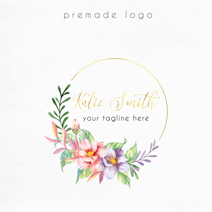 Logo Design, Business Card custom, Personalized logo, Premade logo, Watercolor