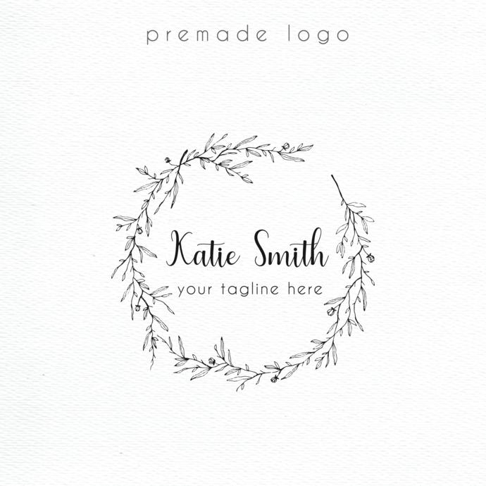 Personalized logo, Logo Design, Premade logo, Watercolor Logo, Business Card