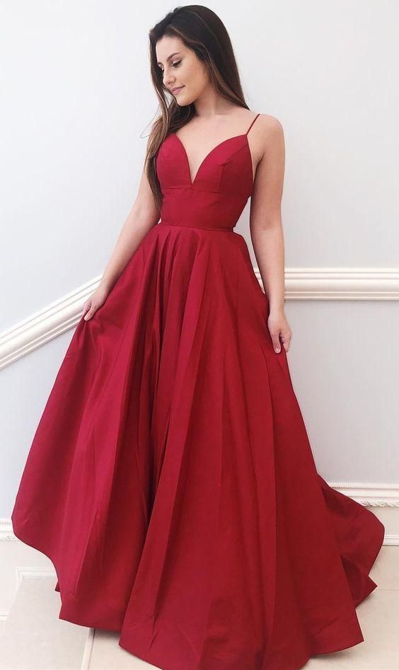 A Line Prom Dress Long, Evening Dress, Dance