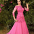 Evening Dress Turkey Sexy Off the Shoulders Hot Pink Tulle Lace Appliques