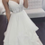 Spaghetti Straps White Wedding Dresses Waist with Lace