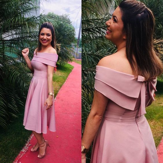 off the shoulder prom dress , chic prom dress , homecoming dress