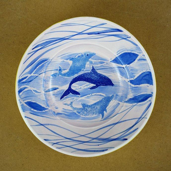 Fruit bowl, Home decor, Decorative bowl, Hand painted ceramic,