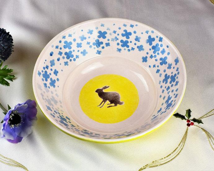 fruit bowl, Home decor, Decorative bowl, Hand painted ceramic