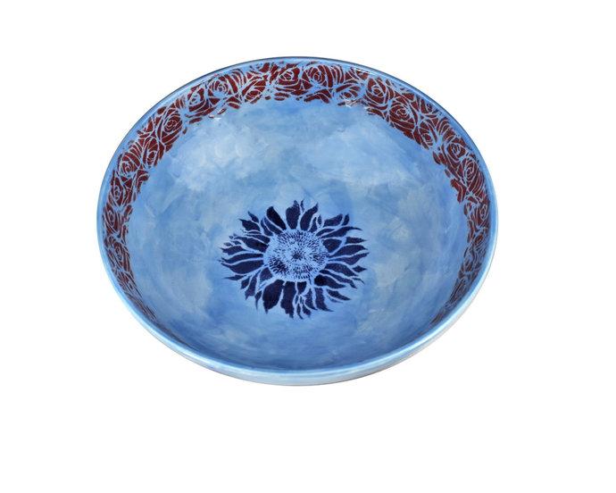 Fruit bowl, Home decor,Decorative bowl, hand painted ceramic, decorative dish,