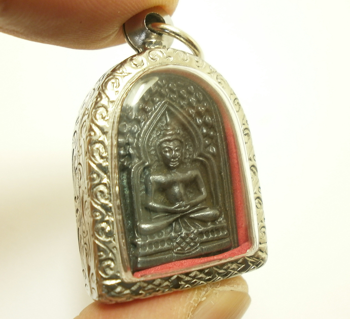 LP Ta coin Wat Paningtak Temple blessed by disciple 1993 strong life protection
