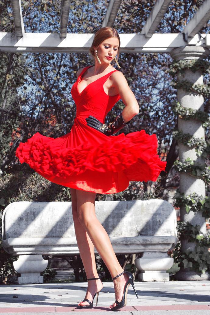 A-Line Prom Dress V-Neck Prom Dress Chiffon Prom Dress