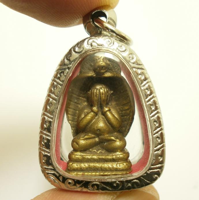 Phra Sangkajai pidta Naga Nak cobra Nakprok pitta pita hotei budai Thai pendant