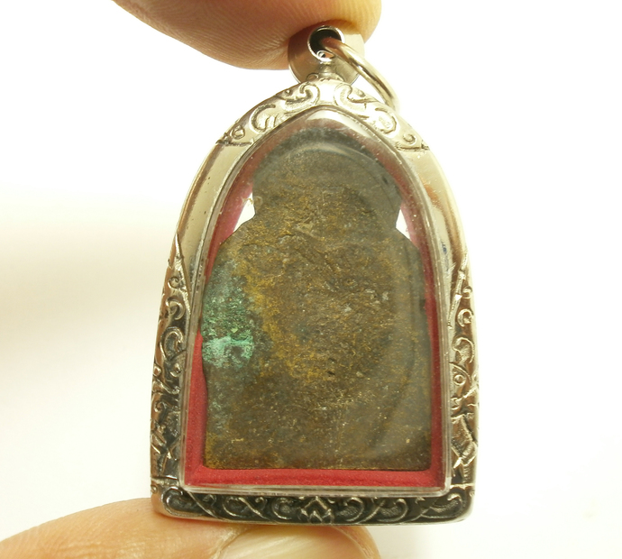 Antique 1940s Lord Buddha Phra Nirvana Samadhi blessing for Long Peaceful Life