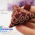 lovely handmade chocolate swirl 3D Seed bead pendant, brown, gold, arrowhead