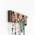 Jewelry Rack, Modern Striped Recycled Wood with Silver Hooks, Made in USA