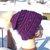 Purple Sweeney Beanie with big fluffy pom pom