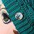Emerald Sparkle Dragonfly Slouchy Beanie with dragon button