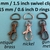 15 Nickel Plated Lobster Swivel Clasps - 1.5 INCH