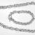 Tiffany Style Link Chain Necklace in Sterling w/Toggle Clasp & Matching Bracelet