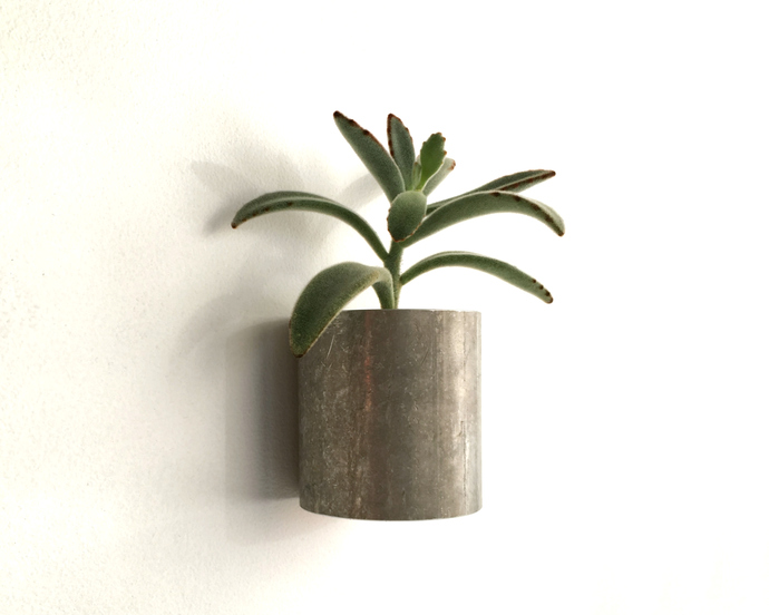 Metal Wall Succulent Planter, Recycled Rustic Metal, for Succulents or Small