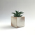 White Cube Shaped Rustic Hand Painted Accent Planter, Made in USA