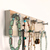 Jewelry Rack for Earrings, Necklaces and Bracelets, Short Rustic White Wall