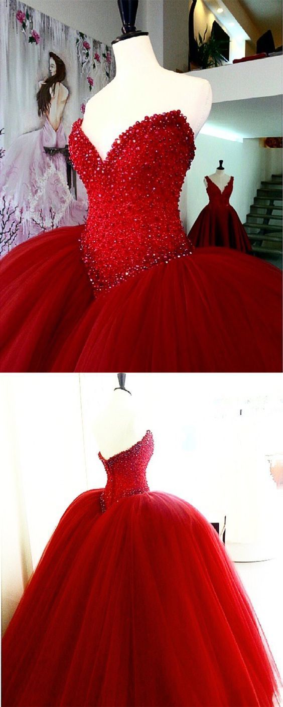 red wedding dresses ball gowns for bride