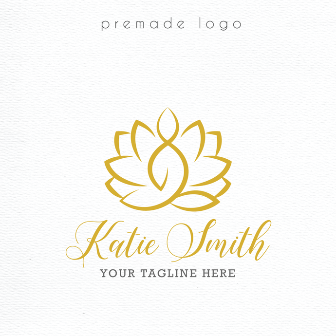 Premade logo, Personalized logo, Watercolor Logo Design, Watercolor Logo, PL36