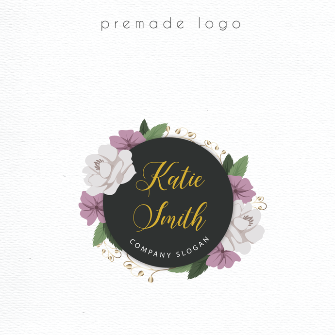 Logo Design, Premade logo, Business Card custom, Personalized logo, Watercolor
