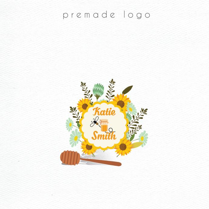 Premade logo, Personalized logo, Watercolor Logo, Logo Design, Watercolor Logo