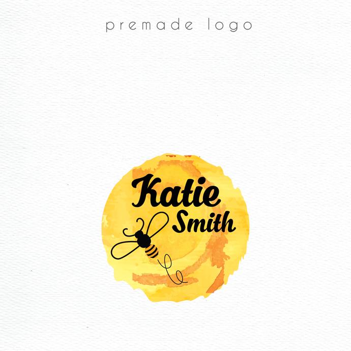 Premade logo, Personalized logo, Honey Logo, Honey Logo Design, Logo Design,